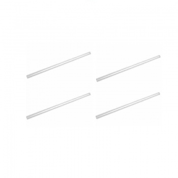 8'' Clear Smoothie Straws 200pk