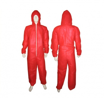 Coveralls Red Lightweight 50pk