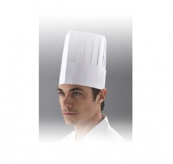 Chefs Hat - Classic Style White 50pk
