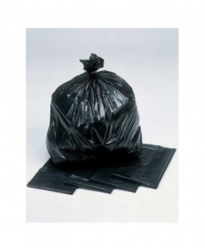 200 Light Duty Black Bin Bags