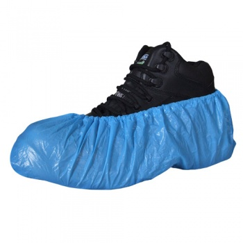 Disposable Blue Overshoes 14'' 100pk