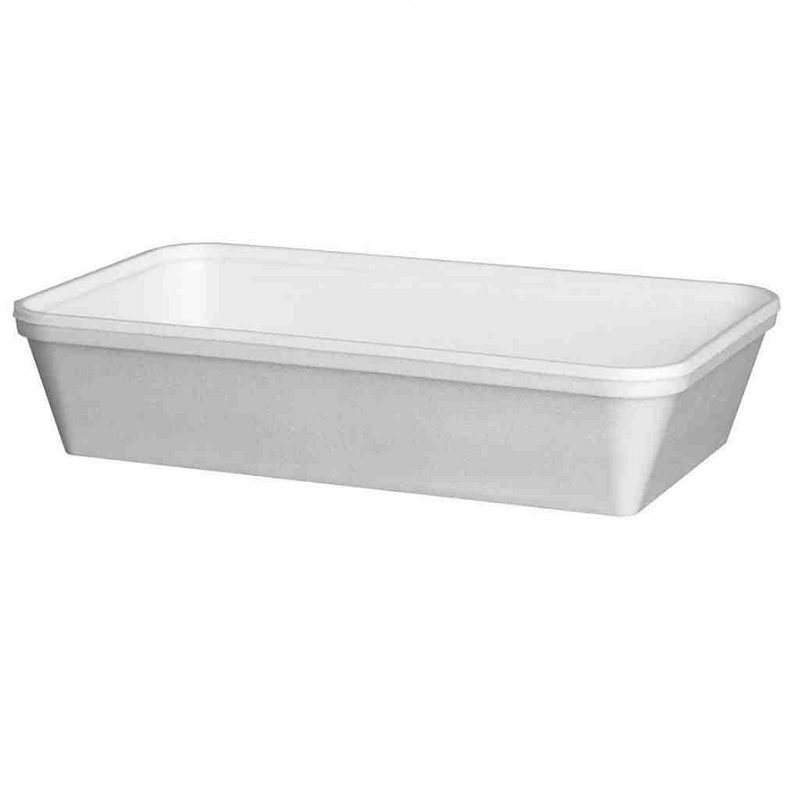 34oz White Polystyrene Trays