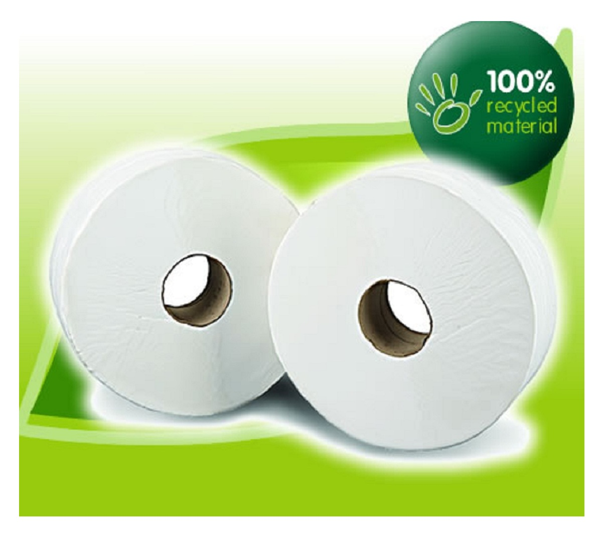 Mini Jumbo Toilet Rolls 3'' Core x 200mtrs