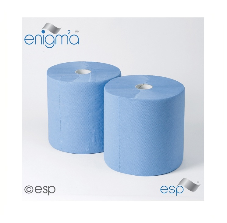 Industrial Wiping Rolls Blue 3ply