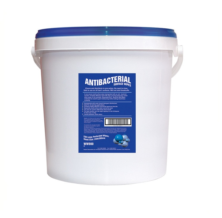 Antibacterial Surface Wet Wipes (WW900)