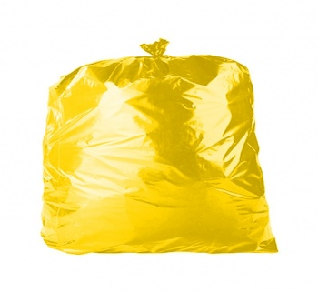 Yellow Bin Bags Refuse Sacks